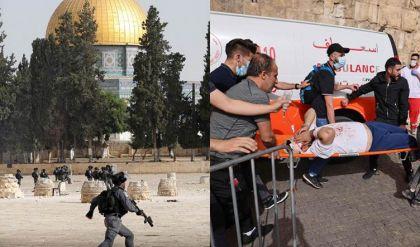 عشرات الجرحى بتجدد المواجهات بين فلسطينيين والشرطة الإسرائيلية في باحات المسجد الأقصى