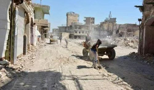 انطلاق مشروع تأهيل شارع النجفي بأيمن الموصل