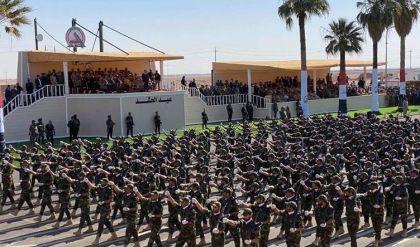 الحشد الشعبي يقيم استعراضاً عسكرياً بذكرى تأسيسه