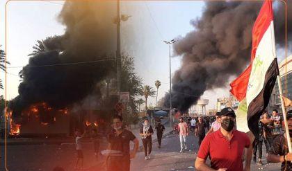 قتيلان وعشرات الجرحى إثر استخدام الرصاص الحي تجاه المتظاهرين في بغداد