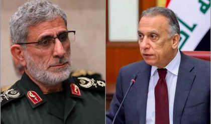 سياسي عراقي: الكاظمي اجتمع مع قاآني واستمع