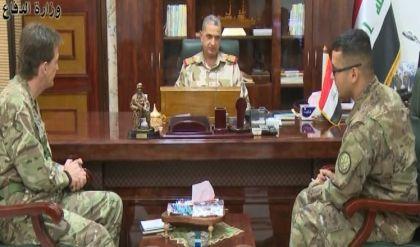 الغانمي يبحث مع نائب قائد قوات التحالف الدولي سير عمليات تحرير الموصل واغاثة النازحين