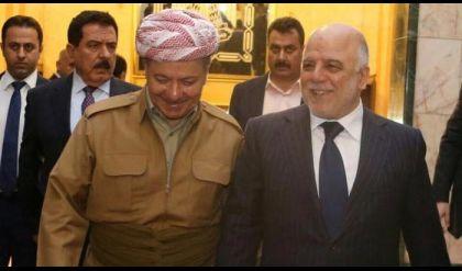 العبادي يتلقى اتصالا هاتفيا من رئيس اقليم كردستان