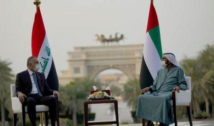 رئيسا الوزراء العراقي والإماراتي يبحثان سبل تعزيز التعاون المشترك بين بلديهما
