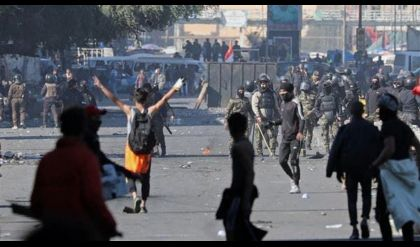 حقوق الانسان تبدي قلقها وأسفها لقيام متظاهرين باستخدام القوة ضد القوات الامنية