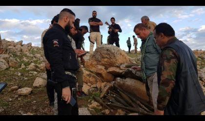 الحشد يعثر على مخبأ للصواريخ في منطقة جبلية غرب الموصل