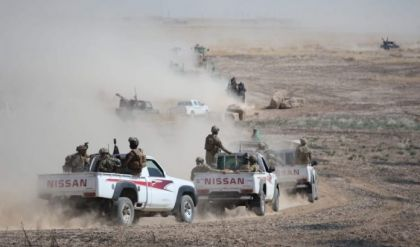 """الحشد يدمر كدس عتاد ومقذوفات حربية لـ""""داعش"""" في جزيرة نينوى"""