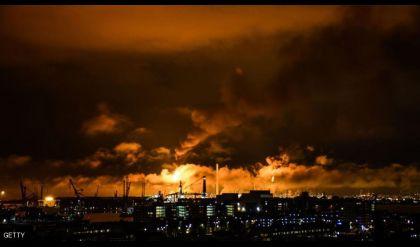 حريق في أكبر مصفاة أوروبية