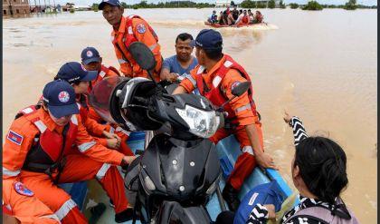 الفيضانات تخلف قتلى وتتسبب بتشريد 26 ألف شخص في كمبوديا