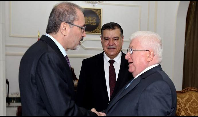 معصوم يؤكد أهمية تعزيز التبادل التجاري والاستثماري بين العراق والاردن
