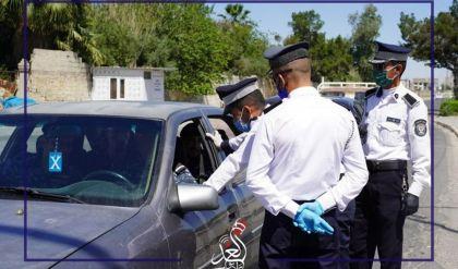 القوات الأمنية تقوم بمحاسبة المخالفين للأجراءات الصحية من إرتداء (القفازات - الكمامات) في مدينة الموصل