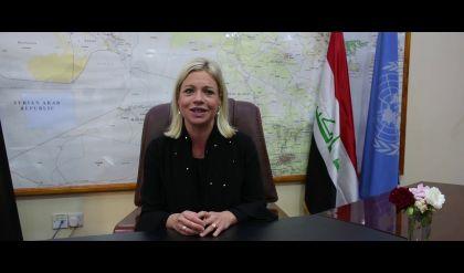 وصول ممثلة الأمين العام للأمم المتحدة في العراق الى الموصل