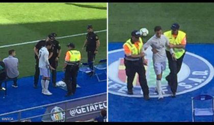 لحظة اعتقال رونالدو في مباراة خيتافي