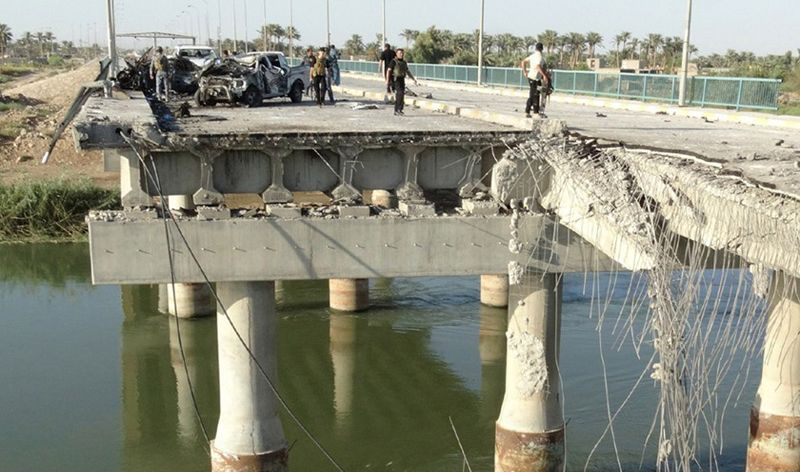طرق وجسور نينوى تباشر باعمار وتاهيل جسر الحضر