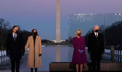 بايدن يحيي في واشنطن ذكرى 400 ألف أميركي حصد أرواحهم كوفيد-19