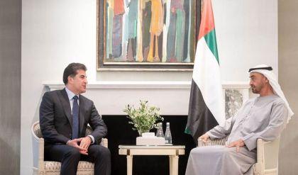 نيجيرفان بارزاني يؤكد مع ولي عهد أبوظبي على تعزيز العلاقات في كافة المجالات