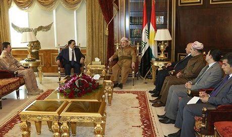 رئيس اقليم كردستان يبحث مع وزير الدفاع العراقي آخر التطورات الميدانية بالموصل