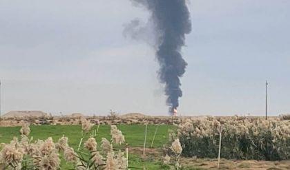 انفجاران يستهدفان بئرين نفطيين في كركوك وفرق الإطفاء تعمل على إخماد الحرائق