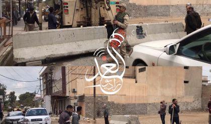 عمليات نينوى تباشر برفع الكتل الكونكريتية من شوارع الموصل