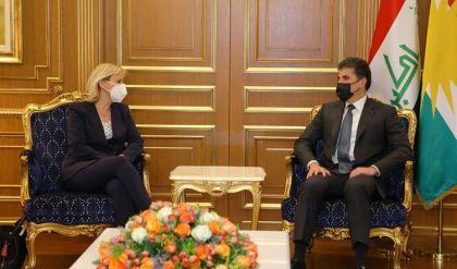 نيجيرفان بارزاني ووفد فرنسي يبحثان حل مشاكل بغداد - أربيل وتعاون البيشمركة والجيش العراقي