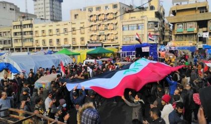 متظاهرو التحرير: ثورتنا سلمية وسنبقى لحين تحقيق المطالب