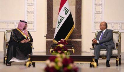 برهم صالح يؤكد على أهمية العمل بمذكرات التفاهم بين العراق والسعودية