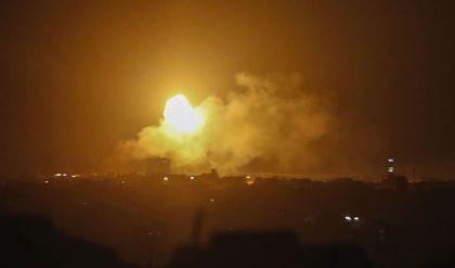 قصف إسرائيلي على غزة رداً على إطلاق صواريخ من القطاع