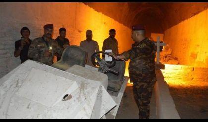 عمليات نينوى تضبط نفقا كان يستخدم لتدريب داعش الاجرامي