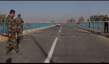 المرعيد يفتتح جسر سنحاريب في ايسر الموصل
