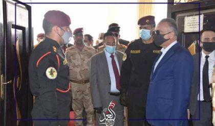 رئيس مجلس الوزراء مصطفى الكاظمي ورئيس جهاز مكافحة الارهاب عبد الوهاب الساعدي يصلان الى مدينة الموصل
