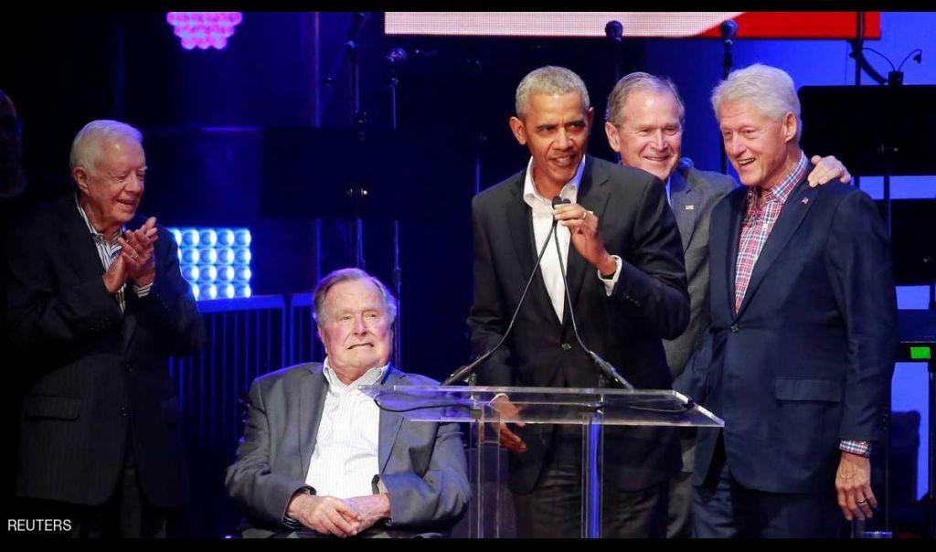 5 رؤساء أميركيين في حفلة موسيقية