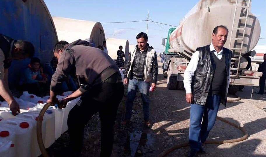 الهجرة: توزيع اكثر من 176 الف لترا من النفط للنازحين جنوب الموصل