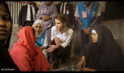 الملكة رانيا من مخيم للروهينغا: معاناتهم وقصصهم مفجعة