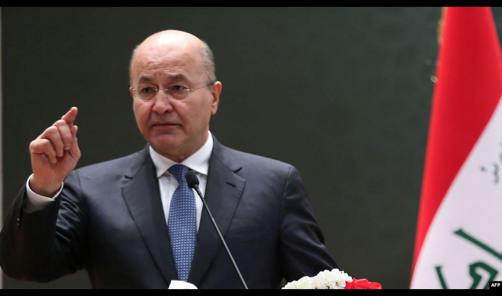 رئيس الجمهورية يعرب عن استنكاره للقصف الصاروخي الإيراني على الاراضي العراقية