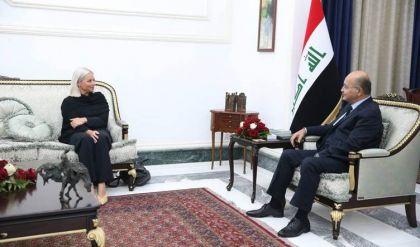 برهم صالح وبلاسخارت يؤكدان على أهمية توفير الشروط اللازمة لإجراء الانتخابات وضمان نزاهتها