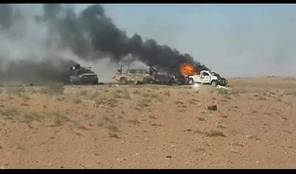 تفجير 10 عجلات محملة بالعتاد تابعة لـ داعش غرب الموصل