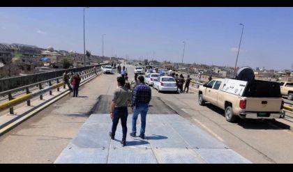 افتتاح الجهة الثانية للجسر الخامس في الموصل
