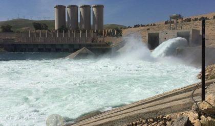 الحكومة المركزية تقلص الاطلاقات من سد الموصل تحسبا من فيضان
