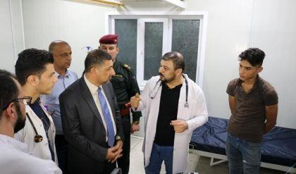 محافظ نينوى يعلن البدء بتأهيل كافة مستشفيات الموصل بالاتفاق مع وزارة الصحة