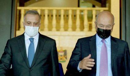 الكاظمي وبرهم صالح يبحثان ملف الانتخابات والخطوات الإصلاحية وتوحيد الصف الداخلي