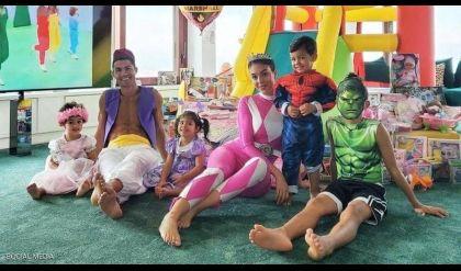 فيديو طريف لرونالدو وعائلته.. و