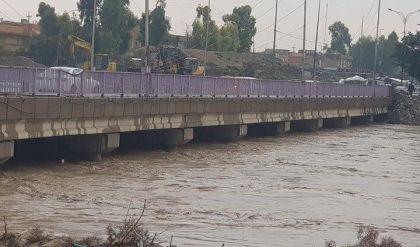 مديرية مجاري نينوى تعلن انهيار المعابر على نهر الخوصر في الموصل نتيجة ارتفاع مناسيبه