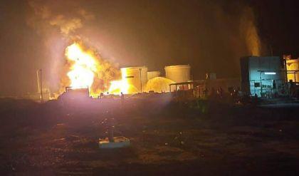 سقوط صاروخ داخل مصفى في صلاح الدين