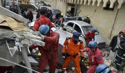 انقاذ أكثر من 20 مواطنا دفنوا أحياء في أيمن الموصل