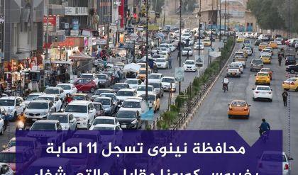 11 اصابة بفيروس كورونا في محافظة نينوى