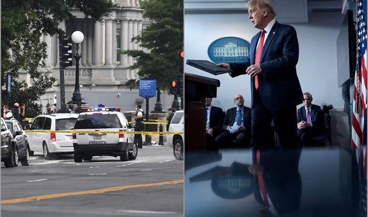 ترامب يقطع مؤتمره الصحفي إثر إطلاق حمايته النار على مسلح أمام البيت الأبيض
