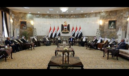 نائب رئيس الجمهورية يستقبل مجموعة كبيرة من شيوخ مناطق شمال بغداد