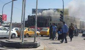 حريق بالقرب من سوق النبي يونس وسط الموصل