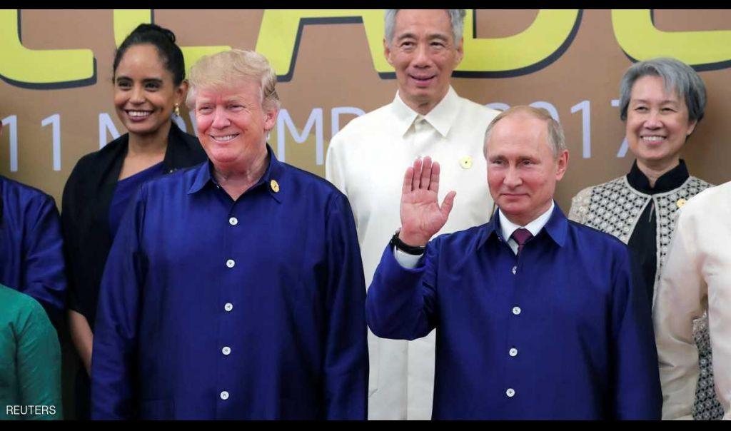 سر قميصي ترامب وبوتن.. في صورة العائلة