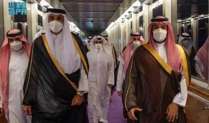 أمير قطر يجري ثاني زيارة للسعودية منذ إعادة العلاقات بين البلدين
